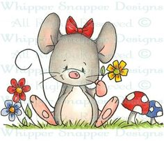 Spring Mouse - Circus - Rubber Stamps - Shop
