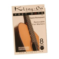 Kling-On Fret Dots, Semi-Permanent, 8 pc (Package Of 2) by Guitar Products. $12.80. Kling-On Fret Dots, Semi-Permanent, 8 pc (Item Code: FDS-08) Semi-permanent, removable and repositionable fret markers. Made by Kling-On Guitar Products. Set of 8. (Package Of 2) Semi Permanent, Musical Instruments, Markers, Adhesive, Musicals, Folk, How To Remove, Guitar, Coding