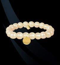 Image Pearl and Gold Monogram Bracelet