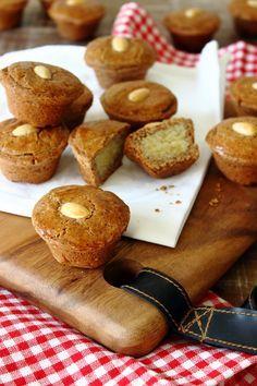 Gevulde speculaaskoekjes gemaakt in mini muffin vorm