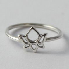 Lotus Sterling silver Ring - Beautiful, Spititual Symbol. by HeartCoreDesign on Etsy https://www.etsy.com/listing/95545729/lotus-sterling-silver-ring-beautiful