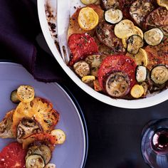 Crisp Tomato, Zucchini and Eggplant Bread Gratin | Food & Wine Recipe
