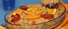 Arroz de pato desfiado com laranja - http://www.receitasparatodososgostos.net/2016/01/09/arroz-de-pato-desfiado-com-laranja/