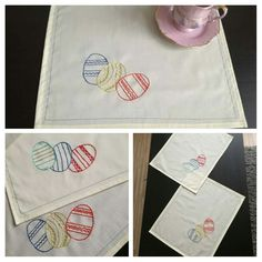 Embroidered easter pad/placemat. Handmade by AnaJ.