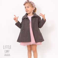 Little girls COAT pattern pdf children sewing by KikoiPatterns