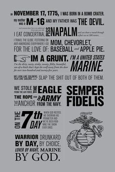 That's my Marine