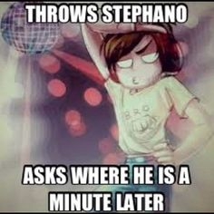 PewDiePie logic. XD LOL He does that quite often actually. :3