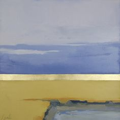 """Gold Ocean #3""  by Ellen Welch Granter.  18"" x 18""  Oil and Gold Leaf on Canvas. *SOLD*"