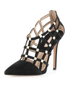 Agnes Suede Cage Pump by Michael Kors at Neiman Marcus.