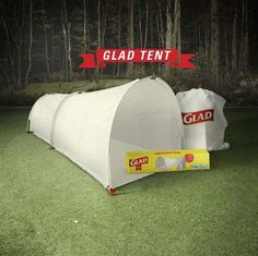 These Disposable Tents Made by Glad are Perfect for Messy Camping Trips trendhunter.com