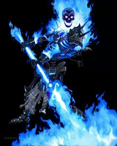 Blue Ghost Rider Wallpaper