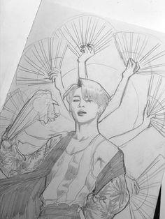 ❀┆𝘉𝘭𝘢𝘥𝘦𝘧𝘳𝘰𝘮𝘴𝘱𝘢𝘤𝘦 kpop drawings, pencil drawings, kpop fanart, jimin fanart, k Jimin Fanart, Kpop Fanart, Kunst Inspo, Art Inspo, Art Manga, Anime Art, Kpop Drawings, Pencil Drawings, Pencil Art
