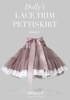 DOLLY LACE TRIM PETTISKIRT mauve