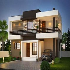Fancy design house elevation modern ghar banavo designs for ground floor single india in g is one of images from cozy house elevation design. Find more cozy house elevation design images like this one in this gallery Best Modern House Design, Modern Exterior House Designs, House Design Photos, Minimalist House Design, 2 Storey House Design, Duplex House Design, House Front Design, Two Storey House Plans, Villa Design