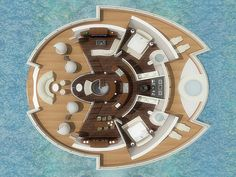 Solar Floating Resort is a design concept for a comfortable and adventurous eco-conscious getaway at sea by Italy-based industrial designer Michele Puzzolante. The self-sustaining structure has a sleek and modern design, as these sorts of projects often do, that simultaneously serves as a luxurious yacht and an accommodating private hotel suite for six people. SFR …