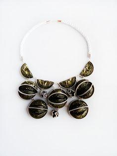 2in1 Nespresso coffee capsules necklace por Wandajewellery en Etsy
