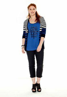 Multi Stripe Button Down plus size Cardigan - maurices.com