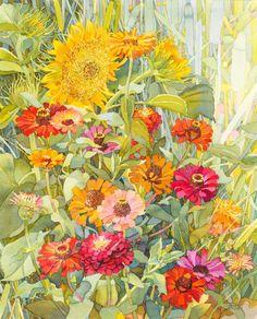 Natalia Kohal - Flower watercolour - Modern Ukrainan watercolor artist  #watercolor #flower #painting #bright #summer #illustration