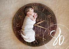 Cute newborn picture. Time they were born.