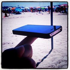 Planking, Iphone at the beach - taken by @cesarrodriguezrodriguez