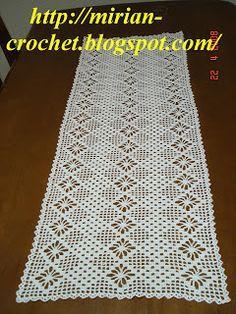 ஜMirian-receitas de crochêஜ: Caminho de mesa em crochê                                                                                                                                                                                 Mais