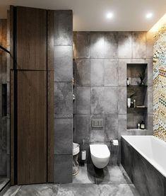 C CLEARinterior designDesign: Maxim Tsiabus for Vae. Modern Minimalist, Minimalist Design, Interior And Exterior, Interior Design, Small Apartments, Cgi, Bathroom, Behance, Sofas