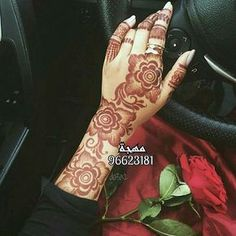 Henna Hand 💕 💅🏻 shared by Naina on We Heart It Khafif Mehndi Design, Floral Henna Designs, Finger Henna Designs, Latest Bridal Mehndi Designs, Arabic Henna Designs, Indian Mehndi Designs, Modern Mehndi Designs, Mehndi Design Pictures, Mehndi Designs For Girls
