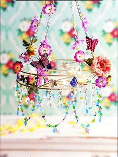 Pretty little girls room decoration.
