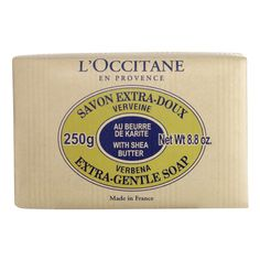 [L'Occitane Shea Butter Extra Gentle Soap Verbena 250g] I fell in love with this fresh, citrusy scent that makes my skin feel soft afterwards.