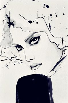 Geneva  Fashion Illustration Art Print