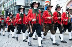 Marching: Tiroler Schtzen, the special guards of honour form Tirol, paraded as part of the procession in honour of Otto von Habsburg in Vienna on Saturday