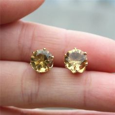 Colored Cubic Zirconia Stud earrings