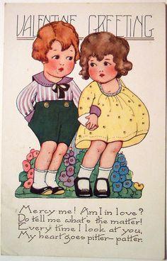 Vintage Valentine's Day Postcard | par riptheskull