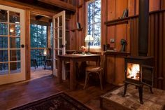 You Can Rent This California Tiny Cabin on Airbnb (11 Photos) Looking out the window or sitting on the deck of this tiny cabin, you could easily feel like you're in a treehouse! Built on stilts over a steep slo...