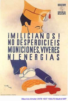 The Visual Front - Posters of the Spanish Civil War Party Poster, Poster On, Poster Prints, Vintage Ads, Vintage Posters, San Diego Library, Poster Creator, Communist Propaganda, Posters