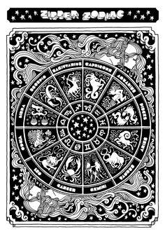 Tarot Astrology, Astrology Chart, Astrology Zodiac, Aquarius Constellation Tattoo, Zodiac Signs Symbols, Zodiac Art, Book Of Shadows, Mandala Art, Vintage Outfits