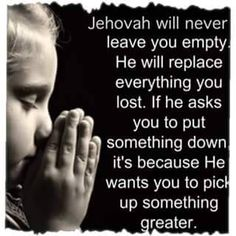 Jehovah will never leave us!