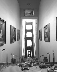 ♂ Dream imagiantion surrealism surreal art by Thomas Barbey Black  white photo bridge
