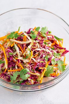 Cajun Delicacies Is A Lot More Than Just Yet Another Food Asian Coleslaw - Refreshing And Colorful Asian-Style Coleslaw Recipe. A Perfect Salad To Complement Ahi Tuna Steak, Bbq Meats, And Other Asian Themed Dinner Menus. Taco Dinner, Dinner Menu, Easy Japanese Recipes, Asian Recipes, Oriental Recipes, Oriental Food, Chinese Recipes, Potluck Recipes, Healthy Dinner Recipes
