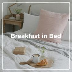 Lazy morning lie-ins, buttered croissants and a cup of tea. The perfect Sunday combination. Or Saturday. We've whipped up some of our Loafy must-haves for a well-deserved brekkie-in-bed sesh. Go on, tuck in. Butter Croissant, Lazy Morning, Comfy Sofa, Breakfast In Bed, Sofas, New Homes, Throw Pillows, Croissants, Sunday