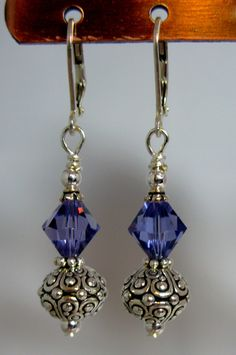 Crystal Oasis Earrings choice of color by SevenBlueDesigns on Etsy, $16.95