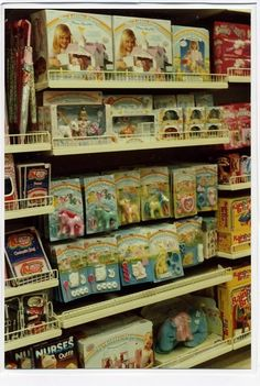 Toy shelves in the 80's!!!