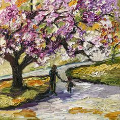 Under The Cherry Blossom Tree #Impressionist #oilpainting