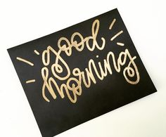 Gold embossing on black paper