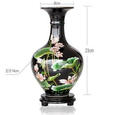 UfingoBlack Pastel Lotus Vase by ufengkepv ** You can get more details by clicking on the image.