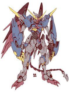 ( *`ω´) ιf you dᎾℕ't lιkє Ꮗhat you sєє❤, plєᎯsє bє kιnd Ꭿℕd just movє ᎯlᎾng. Arte Gundam, Gundam Wing, Gundam Art, Arte Robot, Robot Art, Zoids, Character Art, Character Design, Mecha Suit