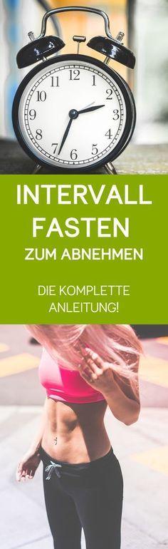 Intervallfasten zum Abnehmen - die komplette Anleitung! In diesem Guide erfährst du was es mit dem intermittierenden Fasten auf sich hat. Außerdem findest du darin auch Informationen zur 5 zu 2 Diät und zur 16/8 Methode von Intermittent Fasting.