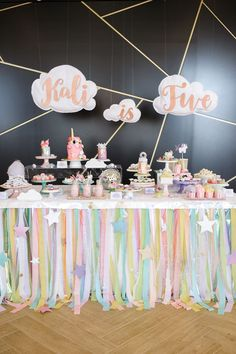 Dessert table from a Geometrical Magical Unicorn Party on Kara's Party Ideas | http://KarasPartyIdeas.com (31)