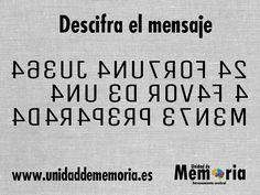 UNIDAD DE MEMORIA.                                    ENTRENAMIENTO CEREBRAL: Descifra el mensaje 13-3-2015