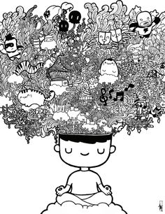 #Doodle art by one of the most popular doodle artist in Singapore is also featured in the first issue of Doodle Arts Collection. See more of Wanton Doodle's works at www.wantondoodle.com